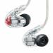 Цены на Внутриканальные наушники Shure SE846 Clear Флагманская модель. Внутриканальные арматурные наушники с высоким уровнем пассивного шумоподавления (до 37 дБ). По 4 драйвера,   диапазон частот 15 Гц — 20 кГц,   чувствительность 114 дБ. 3 пары насадок и два сменных