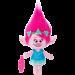 Цены на Принцесса Розочка – оптимистичная милая девочка - тролль из популярного мультфильма «Тролли»,   дочь короля,   любит петь песни и обниматься. У игрушки мягкие розовые волосы и розовая кожа,   на ней надето голубенькое платьице и на голове венок из ц...