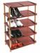 Цены на Росспласт Стеллаж Росспласт РП - 511 САФИР коричневый Производитель:Росспласт Полка для обуви. Вместимость: 10 пар обуви. Цвет: темно - коричневый. Материал: пластик. Размер: 49x31x83 см.