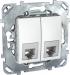 Цены на Телефонная розетка 4 контакта Schneider Electric UNICA белая MGU5.9090.18ZD