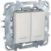 Цены на Переключатель двухклавишный с подсветкой Schneider Electric UNICA белый MGU5.0303.18NZD