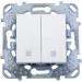 Цены на Выключатель для управления рольставнями Schneider Electric UNICA белый MGU5.207.18ZD