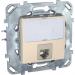 Цены на Компьютерная розетка с полем для надписи Schneider Electric UNICA бежевая MGU5.421.25ZD