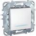 Цены на Переключатель промежуточный с подсветкой Schneider Electric UNICA белый MGU5.205.18NZD