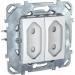 Цены на Электрическая розетка для узких вилок без заземления со шторками Schneider Electric UNICA белая MGU5.3131.18ZD