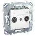 Цены на Телевизионная розетка TV - FM проходная Schneider Electric UNICA белая MGU5.453.18ZD