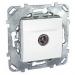 Цены на Телевизионная розетка TV проходная Schneider Electric UNICA белая MGU5.463.18ZD