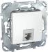 Цены на Телефонная розетка 4 контакта Schneider Electric UNICA белая MGU5.492.18ZD