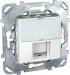 Цены на Телефонная розетка 6 контактов Schneider Electric UNICA белая MGU5.493.18ZD