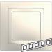 Цены на Рамка 5 поста с декоративным элементом Schneider Electric UNICA бежевая MGU2.010.25