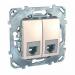 Цены на Телефонная розетка 6 контактов Schneider Electric UNICA бежевая MGU5.9191.25ZD