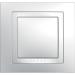 Цены на Рамка 1 пост с декоративным элементом Schneider Electric UNICA белая MGU2.002.18