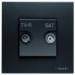 Цены на Телевизионная розетка TV - R - SAT ABB Niessen Zenit одиночная с накладкой Антрацит N2251.3 AN