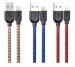 ���� �� / Lightning Sagitar Double Sieded 1000mm Blue Remax USB - ������ ��������������� ��� �������.