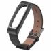 Цены на Сменный браслет Xiaomi Mi Band 2 кожаный Black