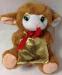 Цены на Мягкая игрушка овечка с подарком Мягкая игрушка Овечка с подарочком держит в руках золотистый мешочек в нем она хранит запас сюрпризов и радости для своих малышей.