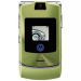 Цены на Motorola Motorola RAZR V3i Green 1087~01 Для всех ценителей необычного подхода к дизайну и внешнему оформлению телефонов предназначена сверхпопулярная модель Motorola V3i в стильном корпусе. Этот раскладной аппарат с двумя дисплеями,   основной из которых и