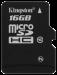 Цены на Kingston Карта памяти Kingston SDC10/ 16GBSP SDC10/ 16GBSP Недорогая карта памяти Kingston microSDHC 16Gb Class 10 будет отличным приобретением для вашего смартфона,   планшета или фотоаппарата. Ее объем составляет 16 Гб,   чего вполне достаточно для хранения к