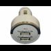Цены на Универсальное автомобильное зарядное устройство 3.1A на 2 USB выхода 1000mAh,   2100mAh (Белый) Универсальное зарядное устройство.