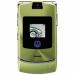 Цены на Motorola Motorola RAZR V3i Green Для всех ценителей необычного подхода к дизайну и внешнему оформлению телефонов предназначена сверхпопулярная модель Motorola V3i в стильном корпусе. Этот раскладной аппарат с двумя дисплеями,   основной из которых имеет диа