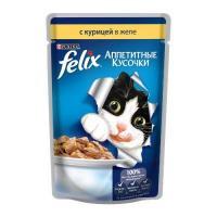 Felix Аппетитные кусочки с курицей в желе 85 г