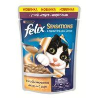 Felix Sensations с уткой в соусе с морковью 85 г