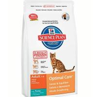 Hill's Science Plan Feline Adult Optimal Care with Tuna 10 кг