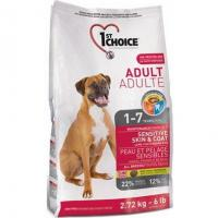 1st CHOICE Adult All Breeds - Sensitive skin & coat 2,72 кг