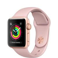 Фото Apple Watch Series 3 (GPS) 38mm Gold Aluminum w. Pink Sand Sport B. - Gold (MQKW2)